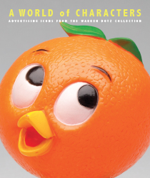 A world of characters, orange bird